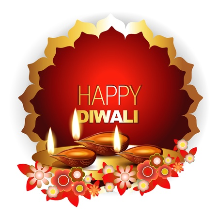 beautiful happy diwali background with space for your text Vector