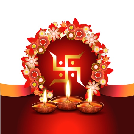 vector indian festival diwali background Vector