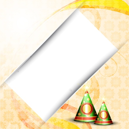 diwali crackers design illustration Vector
