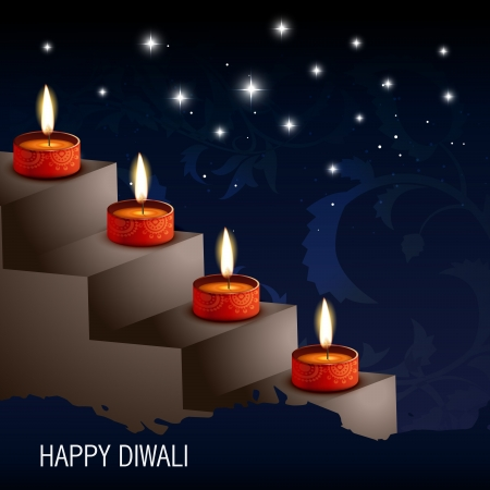 vector artistic diwali background illustration Stock Vector - 15656166