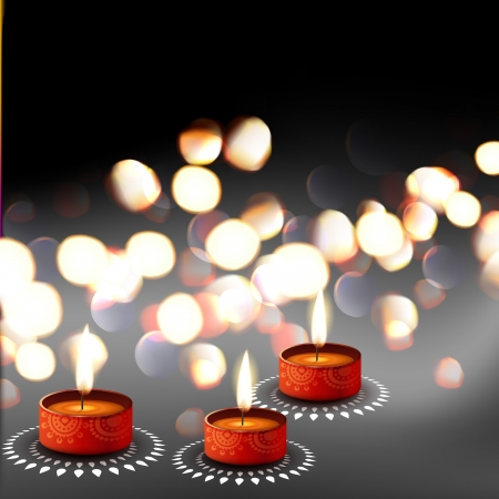 stylish diwali festival diya background Vector