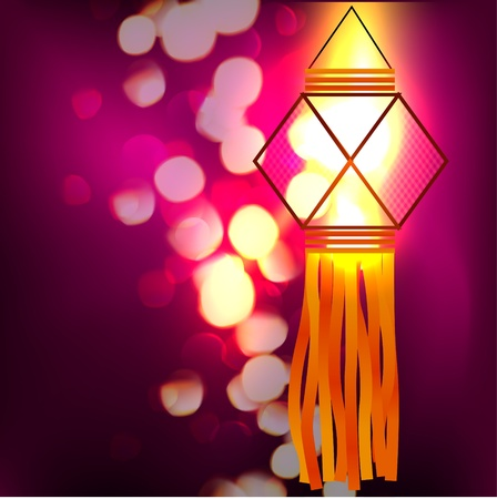diwali lamp design illustration Vector