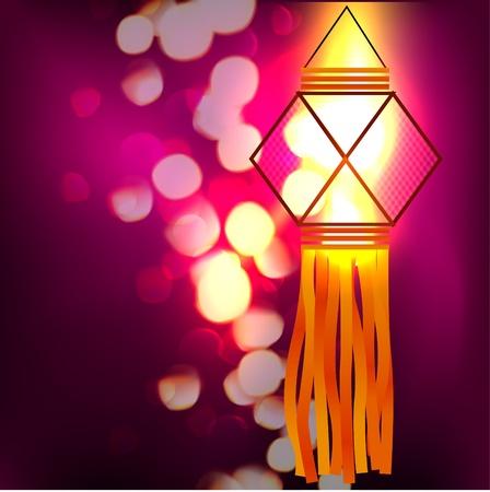 deepawali: L�mpara de Diwali ilustraci�n dise�o