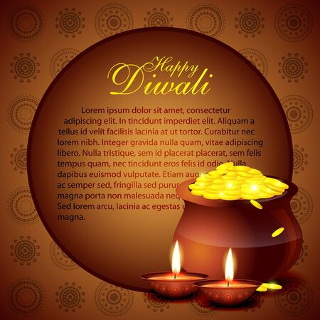 beautiful diwali vector backgorund with space for your text Vector
