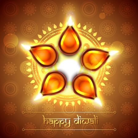 deepawali: beautiful indian festival diwali design Illustration