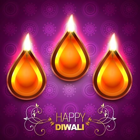 beautiful diwali background illustration Vector