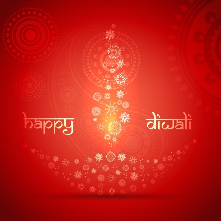 stylish creative vector diya on artistic background Vector