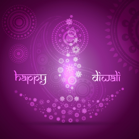 stylish artistic happy diwali vector background design Vector