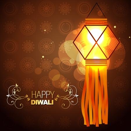 diya: glowing lamp on artistic background