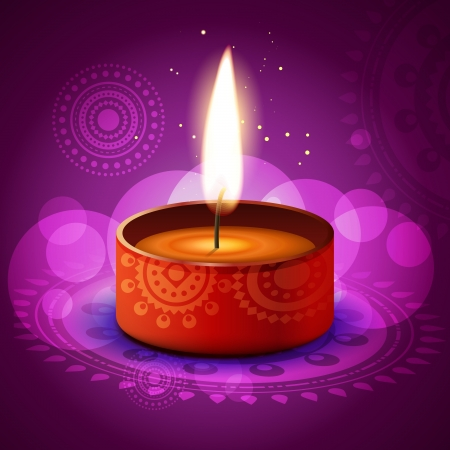beautiful diwali festival diya on artistic background Stock Vector - 15655719
