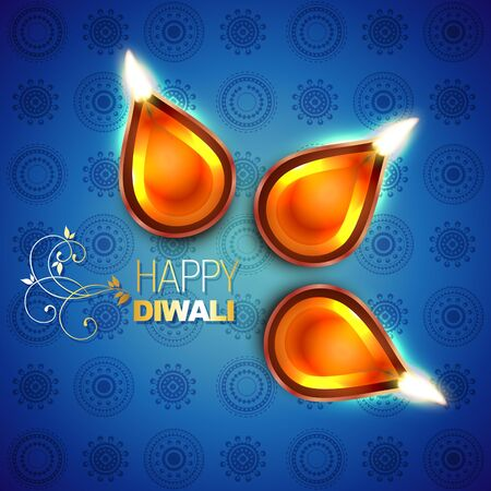 beautiful design of hindu diwali festival Vector