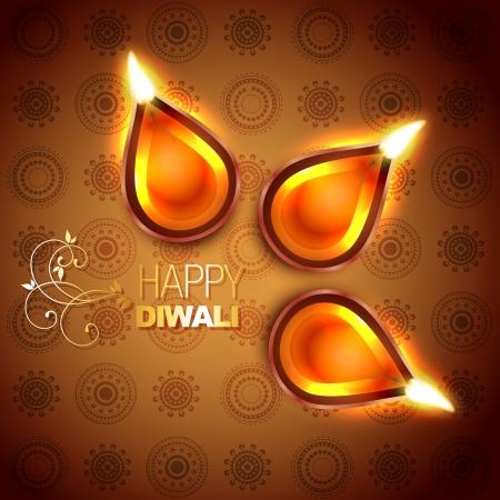hinduismo: festival hindu de Diwali ilustra