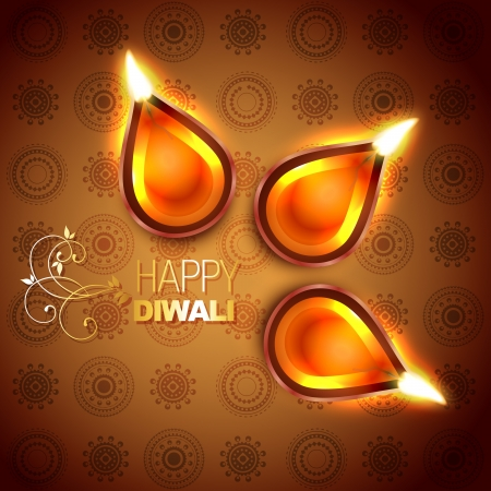 hindu festival diwali illustration Vector