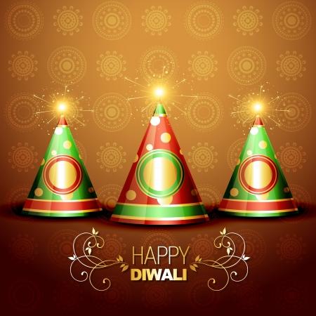 deepawali: festival de Diwali galletas en el fondo art�stico Vectores