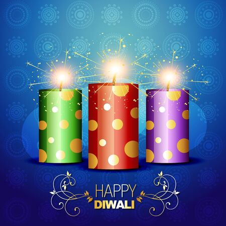diwali cracker bomb on background Vector