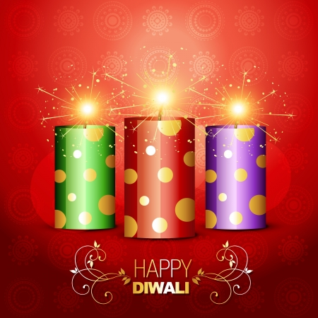 stylish shiny diwali cracker Vector