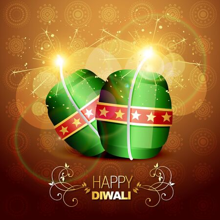 diwali cracker bomb on background Stock Vector - 15656127