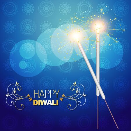 diwali festival crackers on artistic background Stock Vector - 15656092