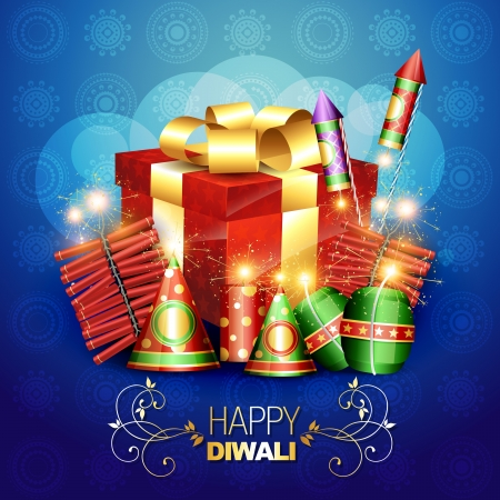 diwali crackers vector background illustration Vector