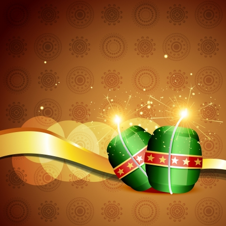 diwali cracker bomb on background Stock Vector - 15656093