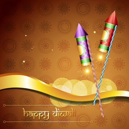hindu festival diwali crackers illustration Vector