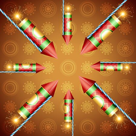 vector festival cracker background illustration Vector