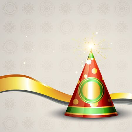 diwali crackers background illustration Vector