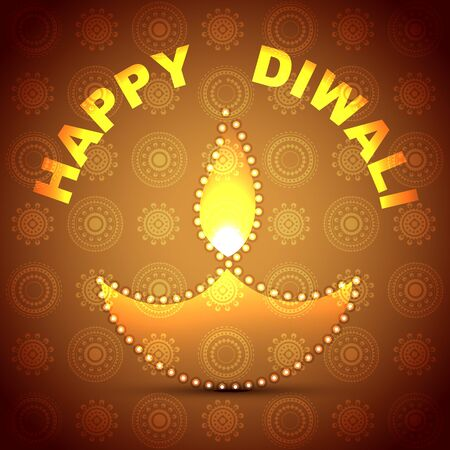 diwali festival diya background Vector
