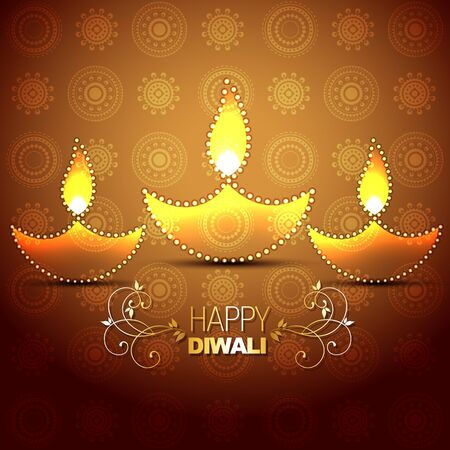 stylish vector indian festival diwali background Vector