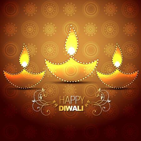 stylish vector indian festival diwali background Stock Vector - 15656159
