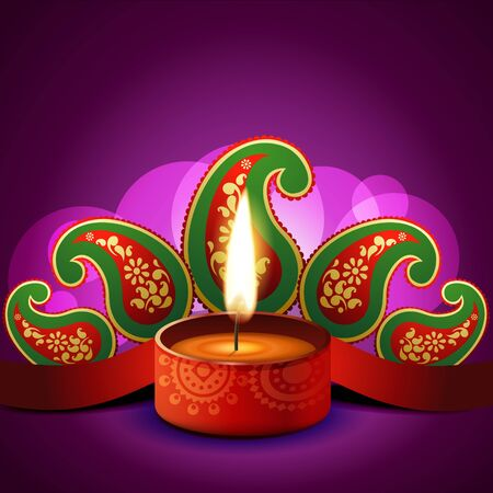 beautiful vector diwali diya background Vector