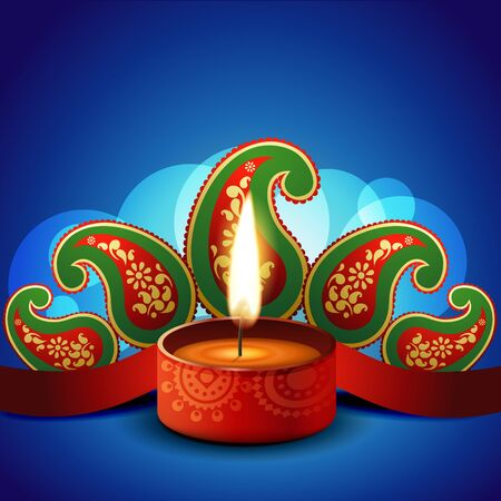 stylish vector diwali diya background Vector