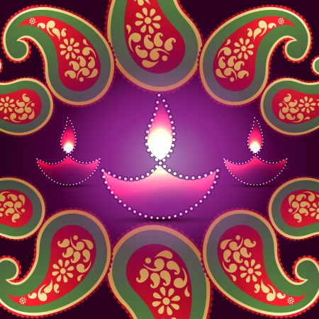stylish indian festival diwali background Vector