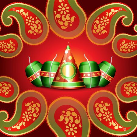 indian festival diwali background Vector