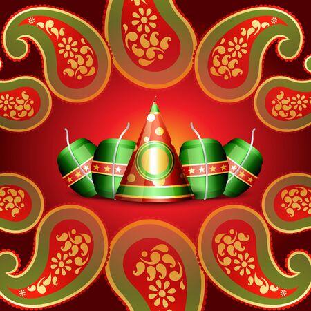 crackers: indian festival diwali background Illustration