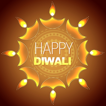 artistic diwali background illustration Vector