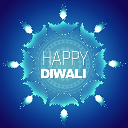 stylish happy diwali vector background Stock Vector - 15656309