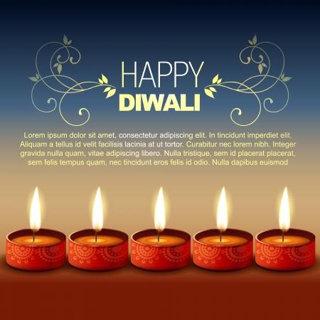 deepawali: festival hind� de Diwali feliz fondo Vectores