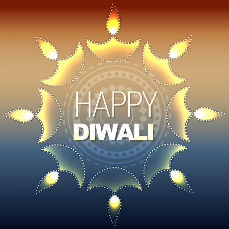 artistic vector diwali diya design Stock Vector - 15656301