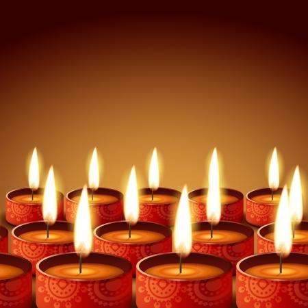 beautiful diwali diya Vector