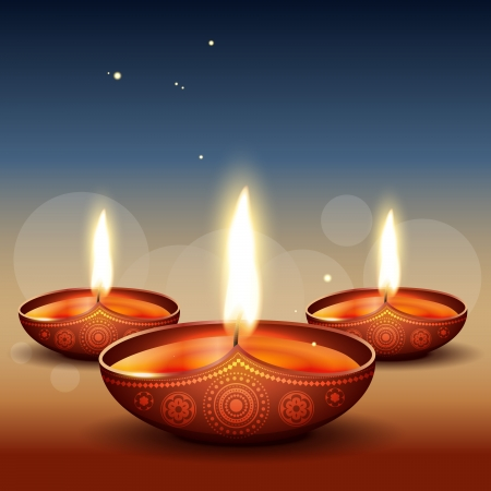 beautiful diwali diya backgorund Stock Vector - 15656039