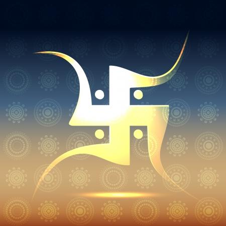 aum: beautiful hindu swastic symbol illustration