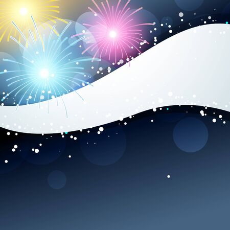 fireworks illustration with space for your text Vector