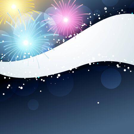 fuegos artificiales: fuegos artificiales ilustraci�n con espacio para el texto Vectores