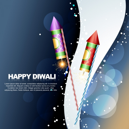 diwali festival crackers illustrations Vector