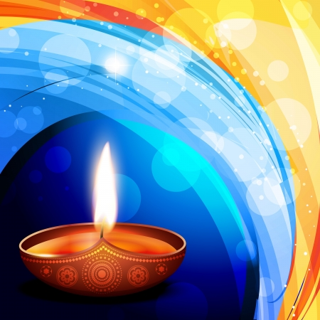diwali festival diya background Stock Vector - 15655683