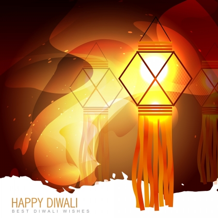 diwali glowing lamp background Vector