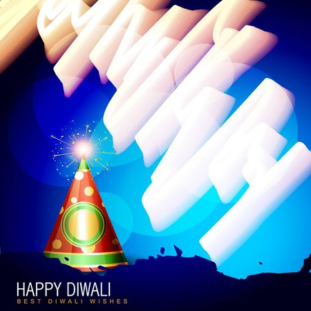 diwali cracker design illustration Vector