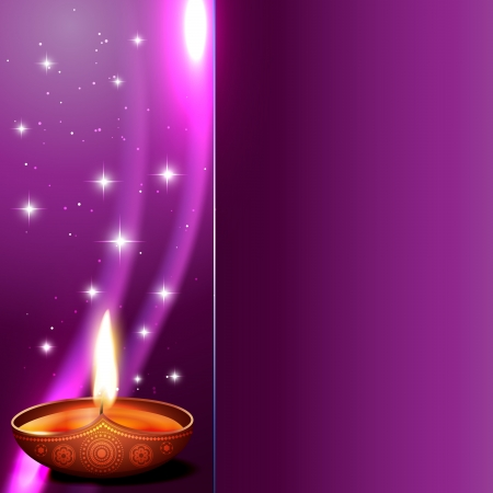 beautiful shiny hindu festival diwali background Vector