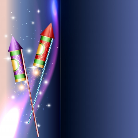 beautiful diwali crackers with space for your text Vector